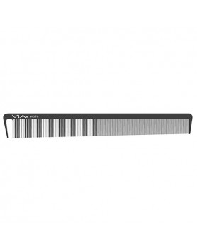 VIA Long Classic Cutting/Styling Comb- Black